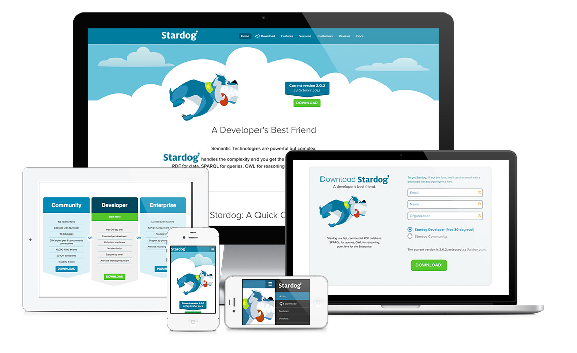 Stardog RDF Database - responsive design down to mobile