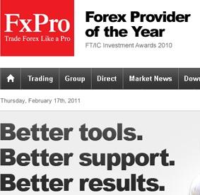 Fx Pro - forex broker website