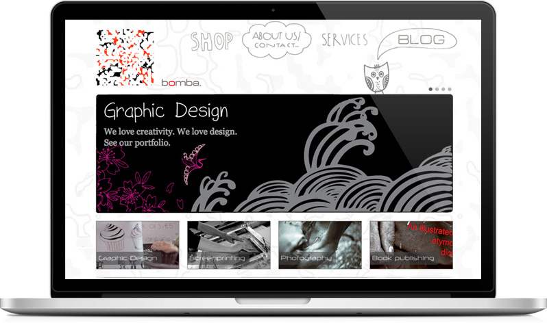 Website for Nicosia graphic design and screenprinting studio